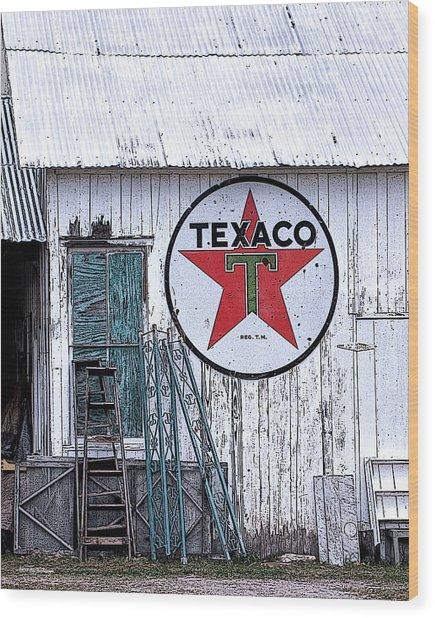 Texaco Times Past Wood Print