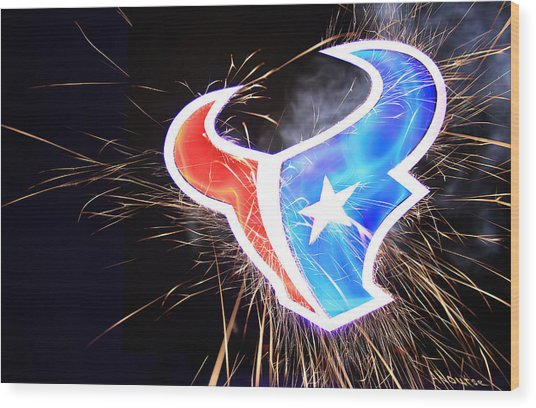 Texans Wood Print