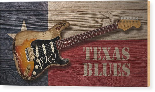 Texas Blues Wood Print