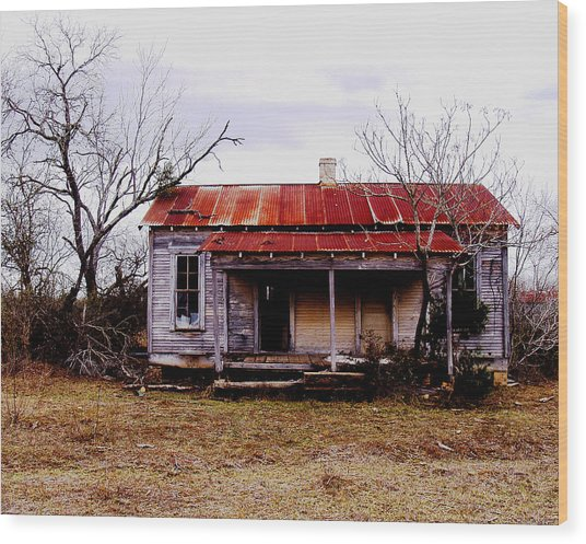 Texas Duplex Wood Print