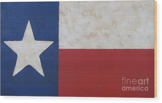 Texas Flag Wood Print
