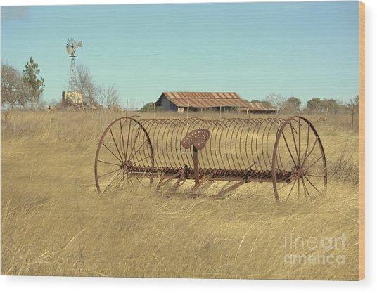 Texas Hill Country Farmscape Wood Print by Joe Pratt