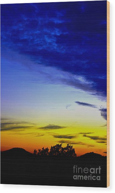 Texas Hill Country Sunset Wood Print