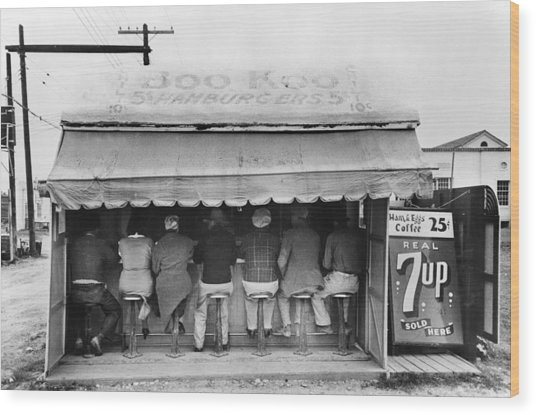 Texas Luncheonette, 1939 Wood Print by Granger