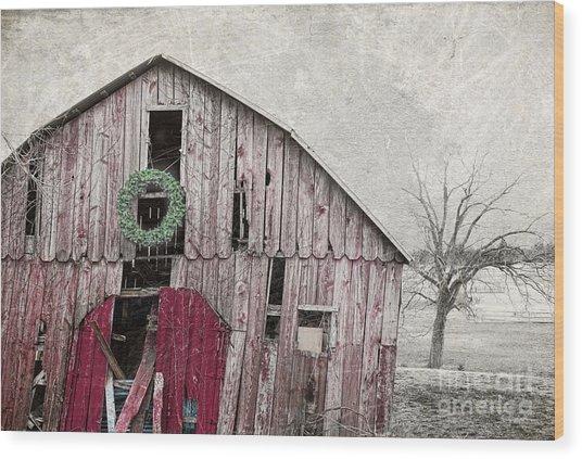 Texas Manger Wood Print
