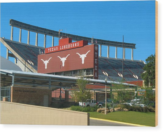 Texas Memorial Stadium - U T Austin Longhorns Wood Print