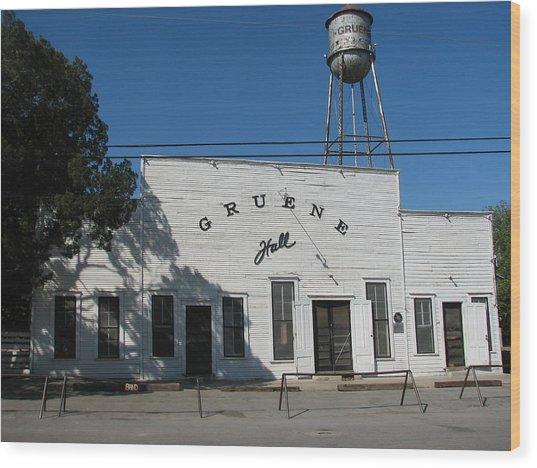 Texas Oldest Dance Hall Wood Print