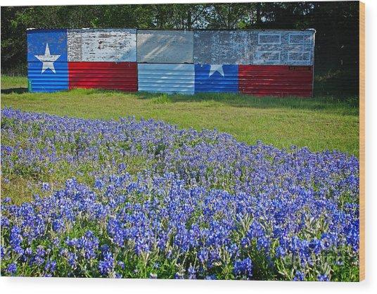 Texas Proud Wood Print