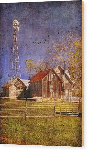 Texas Ranch Wood Print