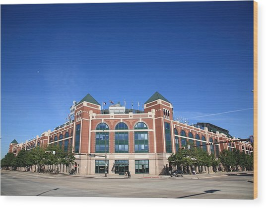 Texas Rangers Ballpark In Arlington Wood Print