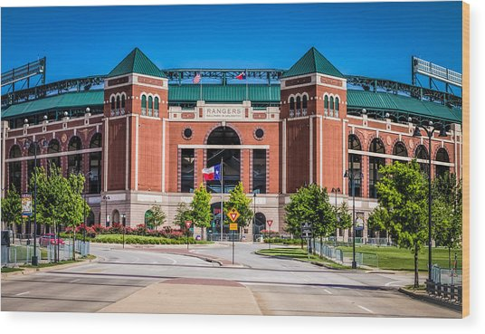 Globe Life Park In Arlington Wood Print