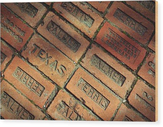 Texas Red Brick Wood Print