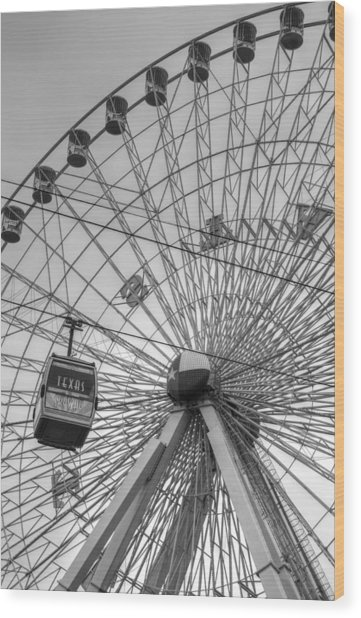 Texas Star Ferris Wheel Wood Print