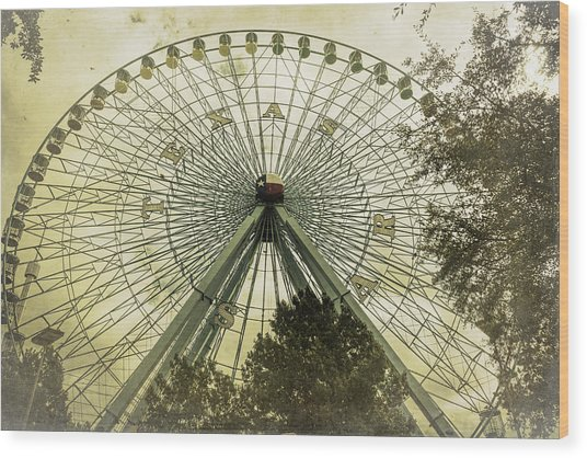 Texas Star Old Fashioned Fun Wood Print