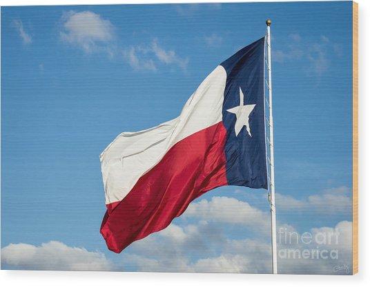 State Flag Of Texas Wood Print