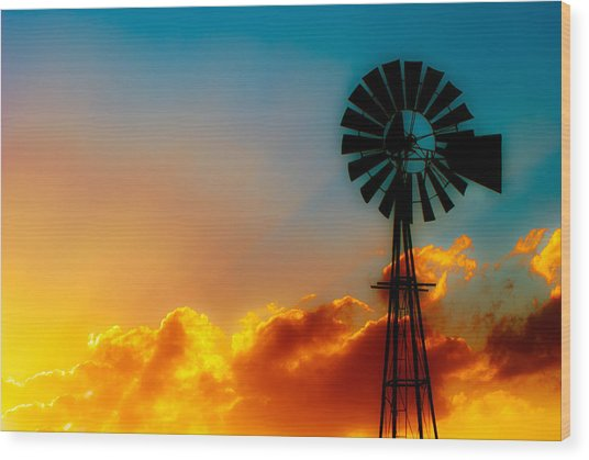 Texas Sunrise Wood Print
