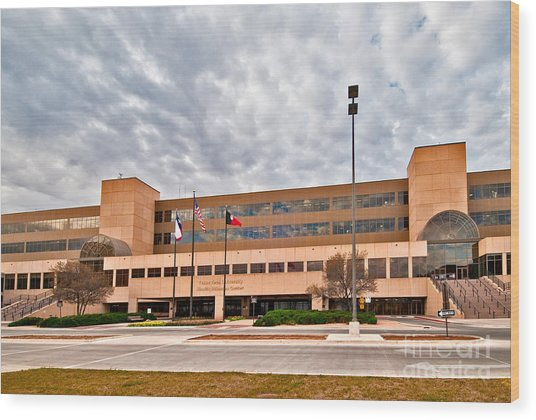 Wood Print featuring the photograph Texas Tech Health Science Center by Mae Wertz