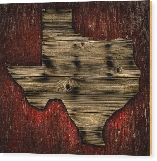Texas Wood Wood Print