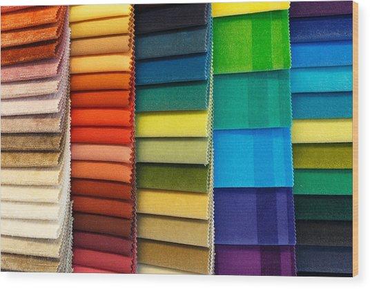 Textiles Wood Print