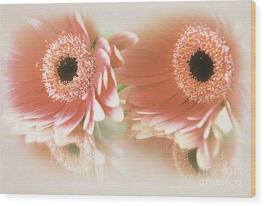 Textured Floral Artwork Wood Print