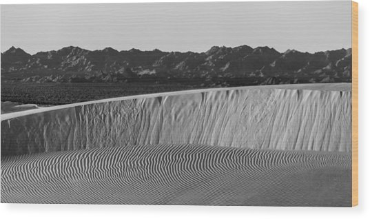 Textures Of Dune Wood Print by Peter Tellone