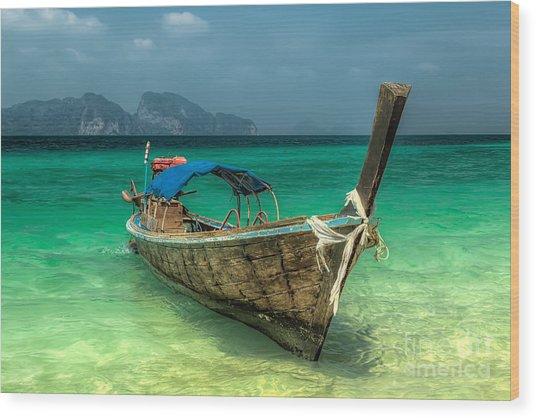 Thai Boat  Wood Print