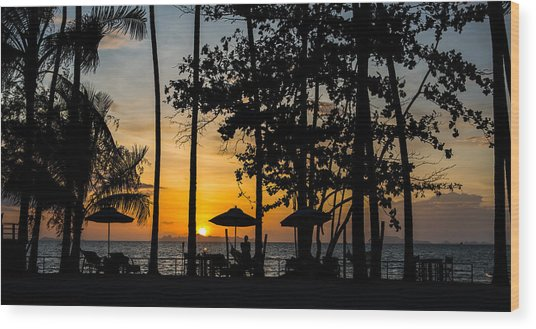 Thailand Sunset Wood Print