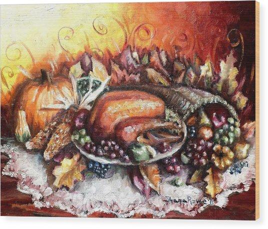 Thanksgiving Dinner Wood Print