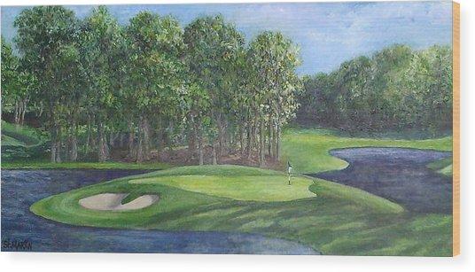The 10th At Meadow Brook Golf Club Wood Print by Annie St Martin