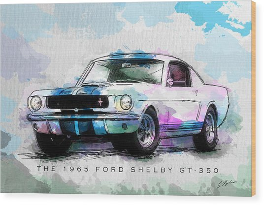 The 1965 Ford Shelby Gt 350  Wood Print