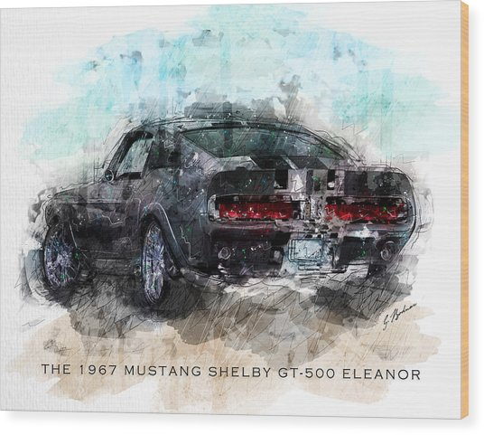 The 1967 Shelby Gt-500 Eleanor Wood Print
