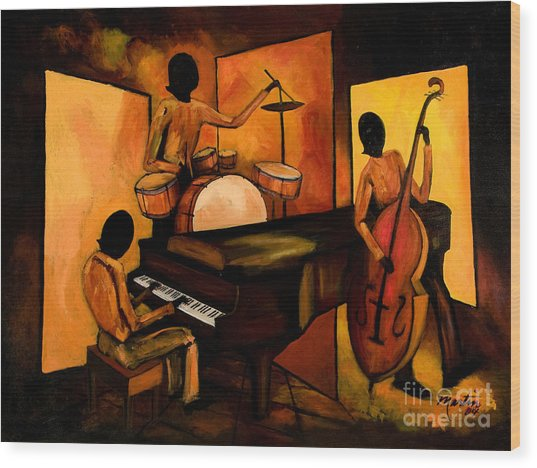 The 1st Jazz Trio Wood Print