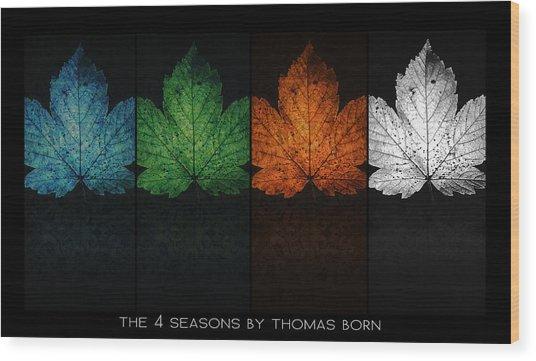The 4 Seasons By Thomas Born Wood Print