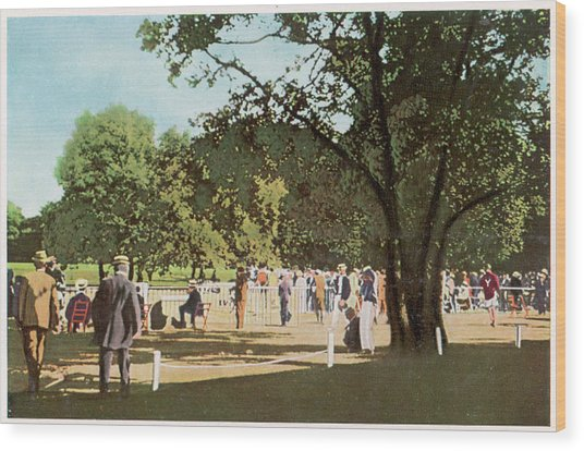 The 500 Metre Race Is Run In  The Bois Wood Print by Mary Evans Picture Library