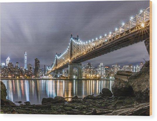 The 59th St Bridge Wood Print