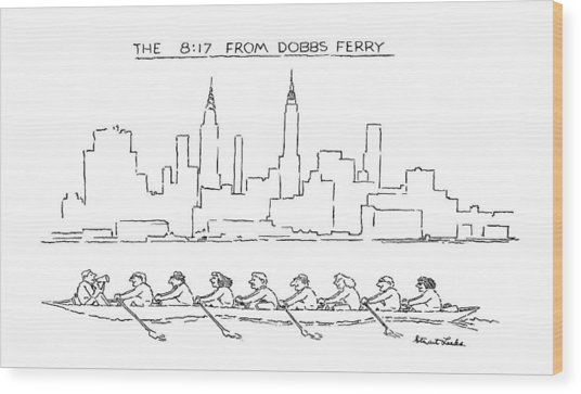 The 8:17 From Dobbs Ferry Wood Print