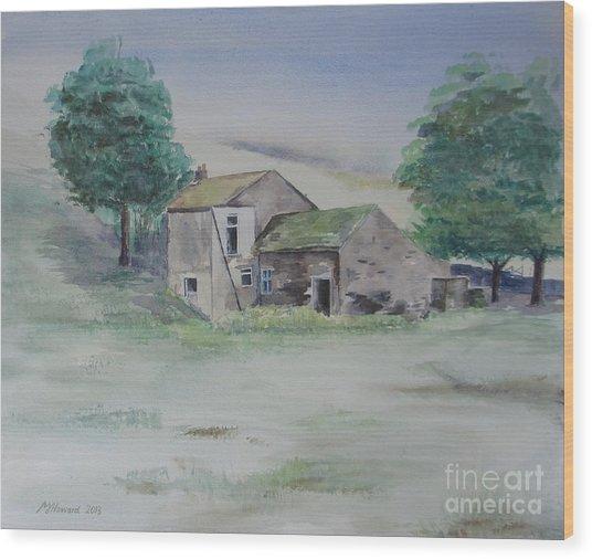 The Abandoned House Wood Print