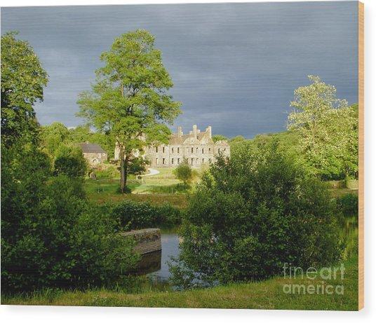 The Abbey Of Bon Repos Wood Print by Carol Weitz