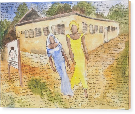 The Abducted Girls Of Chibok Wood Print