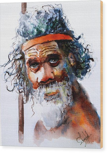 The Aborigine Wood Print