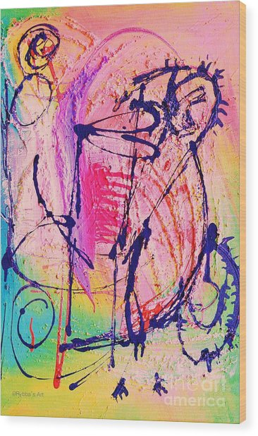 The Abstract Music Makers Wood Print by Ruth Yvonne Ash