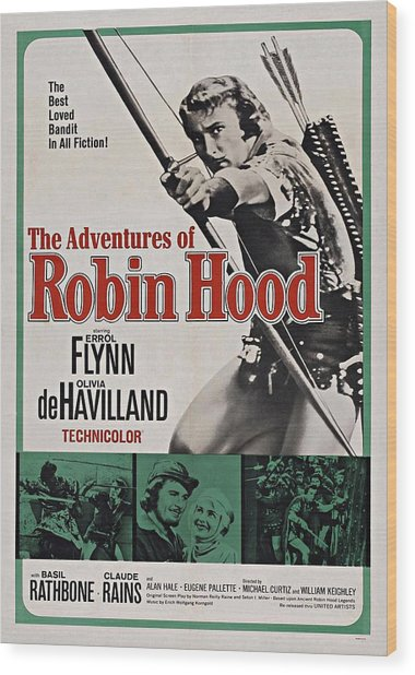 The Adventures Of Robin Hood B Wood Print