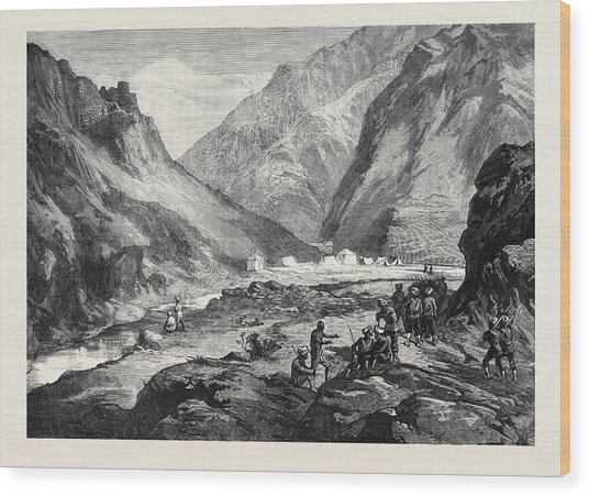 The Afghan War Pass Of Ali Musjid In The Khyber Wood Print