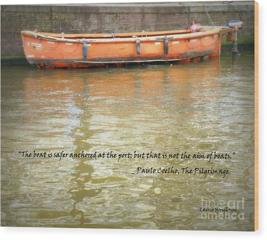 The Aim Of Boats Wood Print