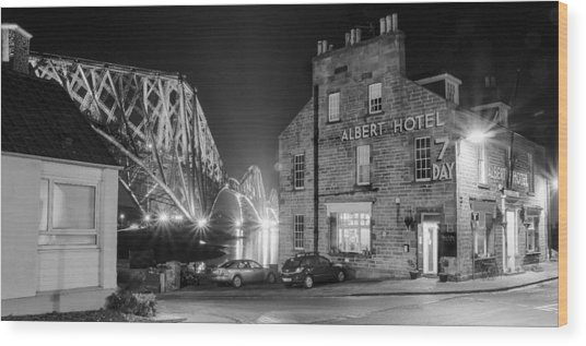 The Albert Hotel Wood Print