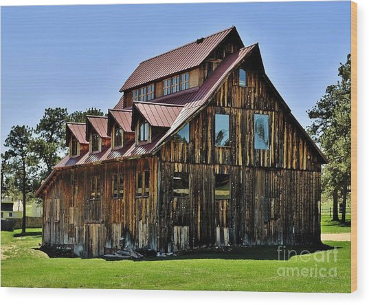 The Aldefer Barn Wood Print by Leianne Wilson