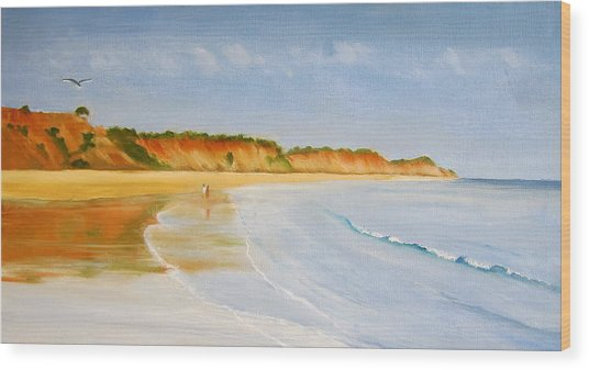 The Algarve Wood Print by Heather Matthews