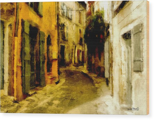 The Alley Wood Print by Wayne Pascall