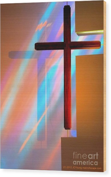 The Amazing Cross Wood Print by JCYoung MacroXscape