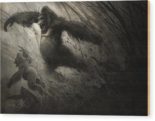 The Ambush Wood Print